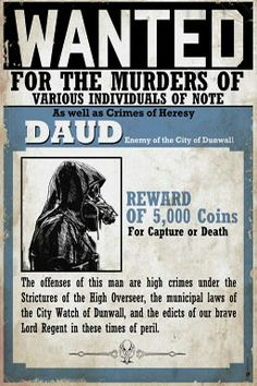Daud wanted poster