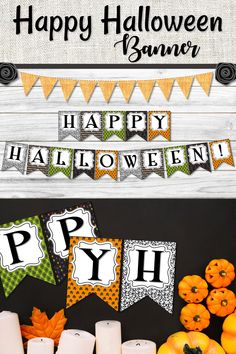 This fun and colorful Halloween banner will add spooky fun to your halloween party this Halloween season. Easy to print at home add to some black cardstock hand with string and you are all ready for your party event. #halloweenparty #halloweenbanner #classroomhalloween #halloweendecor
