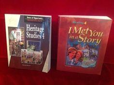 Bob Jones Reading I Met You in a Story & Heritage Studies Student, Gr 4, BJU #Textbook
