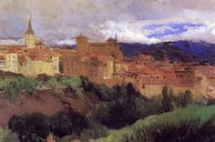 joaquin sorolla y bastida view of segovia paintings