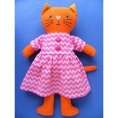 Pip - Dress Up Bunch Kitty Softie Pattern – Shiny Happy World