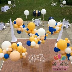 Organic Balloon Cloud Canopy for outdoor party space. #PartyWithBalloons