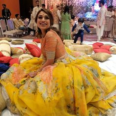 Yellow Lehenga Choli for Women Floral Print Embroidered Bollywood Designer (Indian Pakistani South Asian Bridal Wedding Party Wear Dresses) Floral Lehenga, Yellow Lehenga, Lehenga Skirt, Lehenga Dupatta, Lehnga Dress, Lehenga Indien, Indian Dresses, Indian Outfits, Bowrider