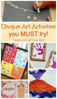 When it comes to Kid Art you really can't go wrong, but some projects are WAY cooler than others. Here are 15 activities from True Aim you might not have seen before, but your kids will love to do this summer! Art Activities For Kids, Preschool Art, Art For Kids, Preschool Education, Kindergarten Art, Art Education, Projects For Kids, Art Projects, Crafts For Kids
