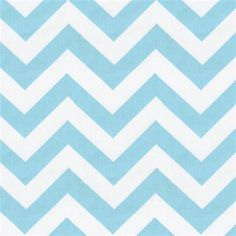 TWO CURTAIN PANELS Aqua and white chevron by by gracielousgoodies