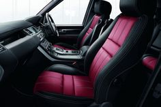 Black outside with black & pink interior, Yes please!! Range Rover Sport Supercharged Limited Edition