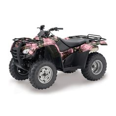 Mossy Oak Break-Up Pink Camo ATV Wrap @Traci Williams You need this to cruise around your new property. You know, to chase off trespassing hunters, search for Coco when she bolts out the front door, rounding up the boys when it's time for supper.....or to go check the mailbox ;)