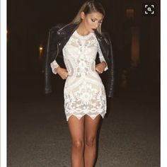 White casual dress Nwot from urban outfitter.the tag fell off . Urban Outfitters Dresses Mini