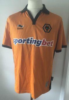 Medium Adult Wolves Wolverhampton Wanderers Home Football Shirt (2010)  Burrda  3f22b6d0a