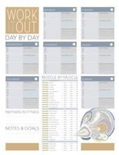 Free printable worksheets! For workouts, party planning, christmas gift lists, and more