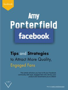 This article will show you how to fill your Facebook community with loyal, engaged fans who will buy your product and recommend you to others. Author Amy used to run large scale online marketing campaigns for none other than Peak Performance Coach, Tony Robbins, so she knows a thing or two about how to make the most of Facebook.  More info: http://magazine.valuedmarketer.com/  iTunes: https://itunes.apple.com/us/app/valuedmarketer-magazine-become/id709724297?l=pl&ls=1&mt=8