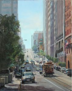 Cable Car, 24x18, oil