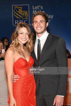 Melissa Benoist (L) and husband actor Blake Jenner attend 'The Edge Of…