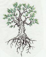 tree tattoo by Kittencaboodles