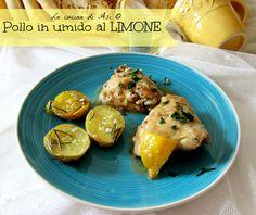 Un delizioso pollo in pezzi al limone servito con semplici patate cotte al forno con rosmarino Ricetta secondo di carne La cucina di ASI