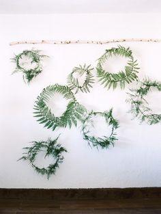 fl-o-ra: (via Fern wreath by Sarah Winward. Photo by Leo Patrone. | ~ wish ~)