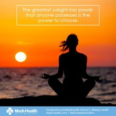 The greatest weight loss power that anyone possesses is the power to choose.  #MondayMotivation