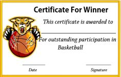 Basketball With Logo Baby Shower Game Prizes, Free Baby Shower Games, Baby Shower Games Unique, Christmas Gift Certificate Template, Birth Certificate Template, Templates Printable Free, Free Printables, Funny Certificates, Free Basketball