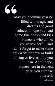 a perfect new years wish by neil gaiman or the start of a new school year 2014 have fun