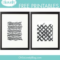 Download these free paint swoosh printables! They work really well in a gallery wall or as a stand alone framed print, and you can't beat free.