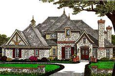 Exterior - Front Elevation Plan #310-671 - Houseplans.com