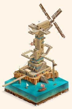 Flying fish City on Behance