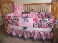 Baby girl crib set so cute!!!