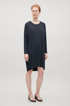 COS | Jersey dress with silk panel