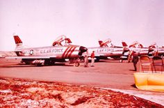 USAF North American F-86D Sabers.