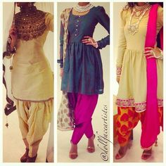 Well I don't know about you, but I adore the indian style. Indian Suits, Indian Attire, Indian Dresses, Indian Wear, Punjabi Fashion, Bollywood Fashion, Asian Fashion, Women's Fashion, Patiala Salwar