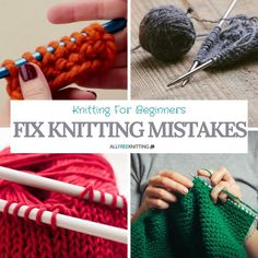 Fix Knitting Mistakes: Knitting for Beginners | This article will help you solve common knitting mistakes and get on with your projects!