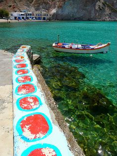 MILOS Mooring and boat