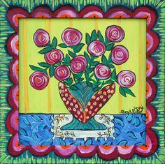 Sarah Rakes #121403 Spring Bouquet on a Tabletop