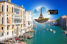 2-3nts 4* Venice & Flights + Chance to Win a Paris Trip! deal in Holidays Enjoy a magical two or three night stay in romantic Venice.  Stay at the 4* Hotel Carlton on the Grand Canal.  Includes return flights from Gatwick or Stansted.  Discover this charming city floating on water, visit the famous Saint Mark's Basilica, Piazza San Marco and Rialto Bridge.  The winner of our competition will...