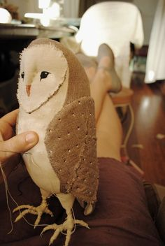 Soft sculpture barn owl by willowynn