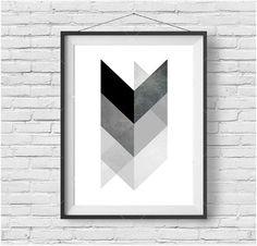 Chevron Downloadable Print Geometric Art van PrintAvenue op Etsy