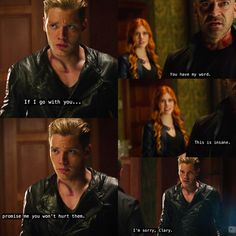 Valentine Morgenstern with Jace and Clary Shadowhunters Clary And Jace, Clary Und Jace, Shadowhunters Tv Show, Mortal Instruments Books, Shadowhunters The Mortal Instruments, Family Channel, Dominic Sherwood, Clace, Abc Family