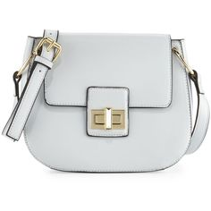 French Connection Fiona Flap-Top Saddle Bag ($33) ❤ liked on Polyvore featuring bags, handbags, shoulder bags, salt water, zipper handbag, saddle bags, french connection purse, zip purse and french connection