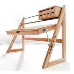 Possible map desk Haba Schreibtisch ANDERSon Buche, € Furniture Projects, Kids Furniture, Wood Projects, Furniture Design, Deco Design, Wood Design, Woodworking Plans, Woodworking Projects, Woodworking Jointer
