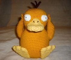 "WolfDreamer: PSYDUCK with pattern. ""I love Psyduck because he goes 'psy yai yai!'"" Have to remember to make for my friend."