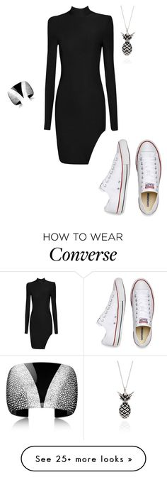 """""""Untitled #1308"""" by vireheart on Polyvore featuring Lee Renee and Converse"""