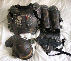 Nice apocalyptic armour. dieselpunk