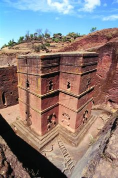 Lalibela, Ethiopia. Churches carved out of solid rock in the 12th-13th century.... Wow!
