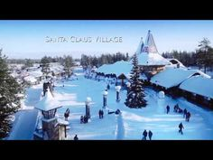 There's no place like Rovaniemi, the Official Hometown of Santa Claus, for genuine Christmas experiences. See here for some Rovaniemi Christmas magic. Helsinki, Santa Claus Village, Winter Photos, Arctic Circle, Christmas Villages, Travel Videos, Modern City, Norway, Places To Visit