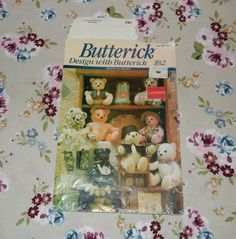 Stuffed Bear with Fez Hat Pattern - 1991 Butterick 182 by WynnsTreasuredFinds on Etsy