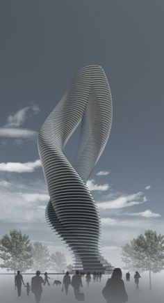 Twisted Tower By Dardan Metushi Via Behance Creative Inspiration Building Unusual  C B Unusual Buildingsamazing Buildingsmodern