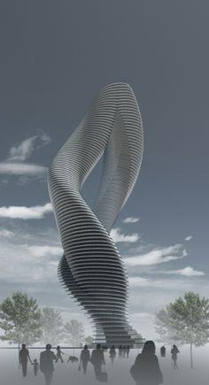 Twisted Tower by dardan metushi, via Behance