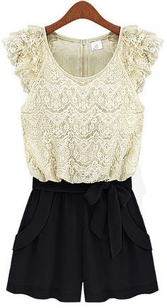 Quite possibly the only romper I've seen that I would wear! I actually love this!