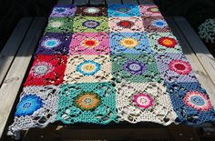 Ravelry: kabeltrui's Rustic Lace Square Blanket