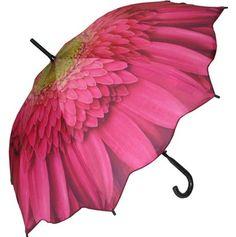 Full Size Gerbera Daisy Umbrella - Fine Art & Print Umbrellas - Umbrellas - Raindrops Umbrellas & Rainwear Canada